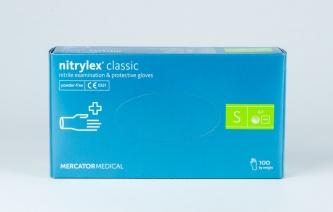 Rękawice jednorazowe nitrylowe – NITRYLEX CLASSIC - rozmiar S