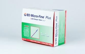 Strzykawki insulinowe BD Micro-Fine Plus - 1 ml U-40, z igłą 8mm x 0,30 (30G)